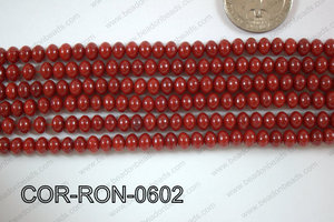 Coral Rondel 6mm COR-RON-0602