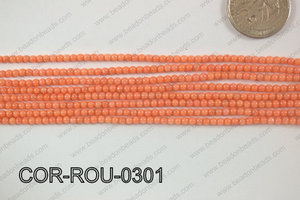 Coral Round 3mm COR-ROU-0301