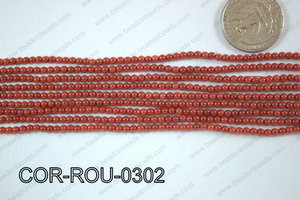 Coral Round 3mm COR-ROU-0302