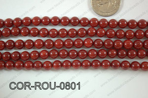 Coral Round 8mm COR-ROU-0801