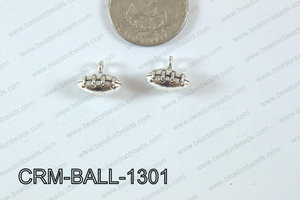 Pewter Charm Football 12x13mm SilverCRM-BALL-1301