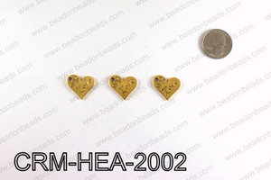 Love Heart Charms 20x21mm, Gold CRM-HEA-2002
