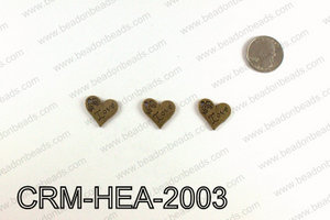Love Heart Charms 20x21mm, Bronze CRM-HEA-2003