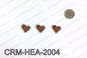 Love Heart Charms 20x21mm, Copper CRM-HEA-2004