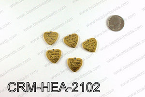 Heart charm 21x22mm, Gold CRM-HEA-2102