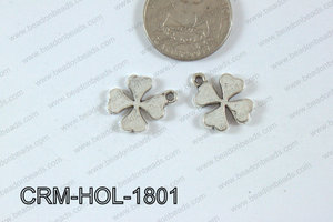 Pewter Charm Clover 15x18mm Silver CRM-HOL-1801