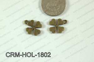 Pewter Charm Clover 15x18mm BronzeCRM-HOL-1802