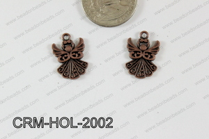 Pewter Charm Angel 14x20mm Copper CRM-HOL-2002