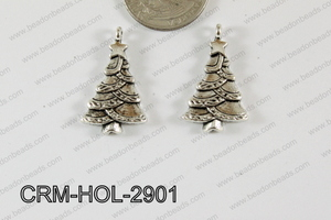 Pewter Charm Christmas tree 17x29mm Silver CRM-HOL-2901
