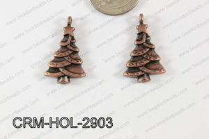 Pewter Charm Christmas tree 17x29mm Copper CRM-HOL-2903