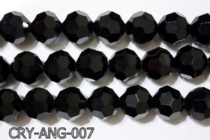 Angelic Crystal Black Faceted Round 22mm CRY-ANG-007