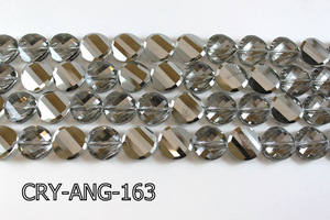 Angelic Crystal Faceted Twisted Coin 18mm CRY-ANG-163