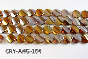 Angelic Crystal Faceted Twisted Coin 18mm CRY-ANG-164