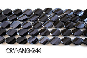 Angelic Crystal Faceted Twisted Oval 13x18mm CRY-ANG-244