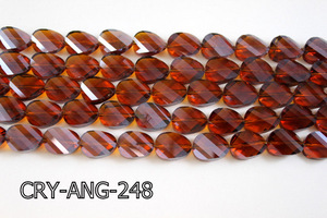 Angelic Crystal Faceted Twisted Oval 13x18mm CRY-ANG-248