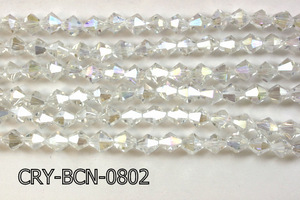 Angelic Crystal Faceted BiCone 8mm 12'' CRY-BCN-0802