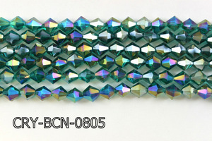 Angelic Crystal Faceted BiCone 8mm 12'' CRY-BCN-0805