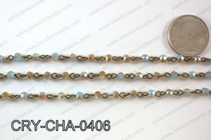 Angelic Crystal Round Chain 4mm  CRY-CHA-0406