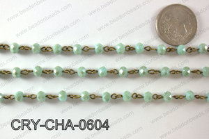 Angelic Crystal Rondelle Chain 6mm  CRY-CHA-0604