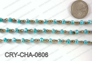 Angelic Crystal Rondelle Chain 6mm  CRY-CHA-0606