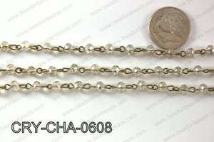 Angelic Crystal Rondelle Chain 6mm  CRY-CHA-0608