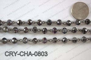 Angelic Crystal Rondelle Chain 8mm  CRY-CHA-0803