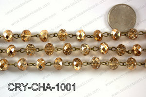 Angelic Crystal Rondelle Chain 10mm  CRY-CHA-1001