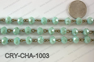 Angelic Crystal Rondelle Chain 10mm  CRY-CHA-1003