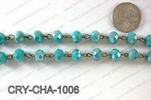 Angelic Crystal Rondelle Chain 10mm  CRY-CHA-1006