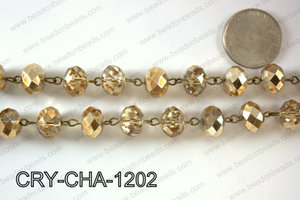 Angelic Crystal Rondelle Chain 12mm  CRY-CHA-1202