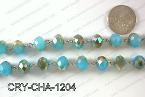 Angelic Crystal Rondelle Chain 12mm  CRY-CHA-1204