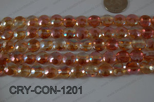 Angelic Crystal Coin Faceted 12mm CRY-CON-1201