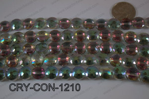 Angelic Crystal Coin Faceted 12mm CRY-CON-1210