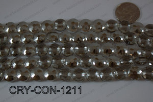 Angelic Crystal Coin Faceted 12mm CRY-CON-1211