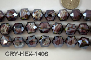 Angelic Crystal Hexagon 14mm 14'' CRY-HEX-1406