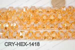 Angelic Crystals Hexagon 12x14mm CRY-HEX-1418