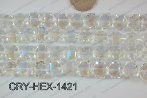 Angelic Crystals Hexagon 12x14mm CRY-HEX-1421
