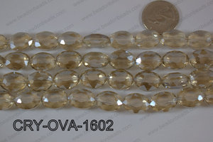Angelic Crystal Faceted Oval 12x16mm CRY-OVA-1602