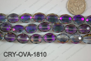 Angelic Crystal Faceted Oval 12x16mm CRY-OVA-1810