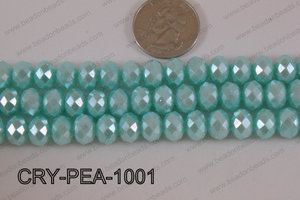 Rondelle Crystal with Pearl Coating Light Blue 10mm CRY-PEA-1001