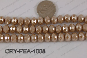 Rondelle Crystal with Pearl Coating Brown 10mm CRY-PEA-1008