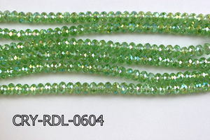 Angelic Crystal Faceted Rondel 6mm 10'' CRY-RDL-0604