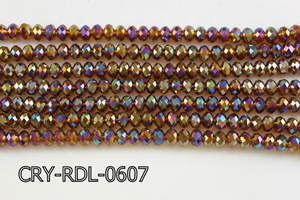 Angelic Crystal Faceted Rondel 6mm 10'' CRY-RDL-0607