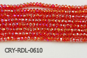 Angelic Crystal Faceted Rondel 6mm 10'' CRY-RDL-0610