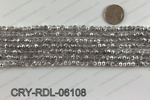 Angelic crystal rondels 6mm CRY-RDL-06108