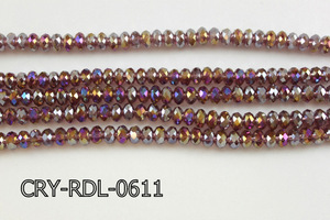 Angelic Crystal Faceted Rondel 6mm 10'' CRY-RDL-0611
