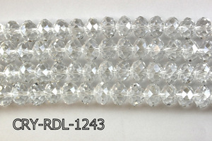 Angelic Crystal Faceted Rondel 12mm 10'' CRY-RDL-1243