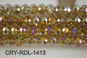 Angelic Crystal Faceted Rondel 14mm  CRY-RDL-1413