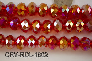 Angelic Crystal Faceted Rondel 18mm  CRY-RDL-1802