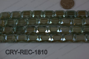 Angelic Crystal Rectangle Faceted 13x18mm CRY-REC-1810